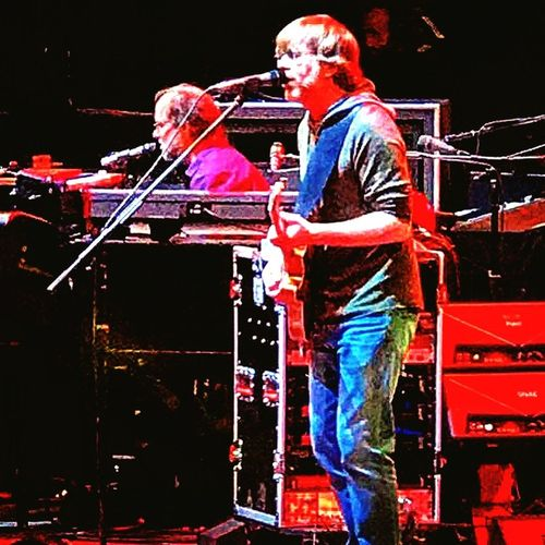 Page Trey Page Trey MSG Phish Night Performance Arts Culture And Entertainment Music Real People Stage - Performance Space Multi Colored Musician Standing Popular Music Concert People