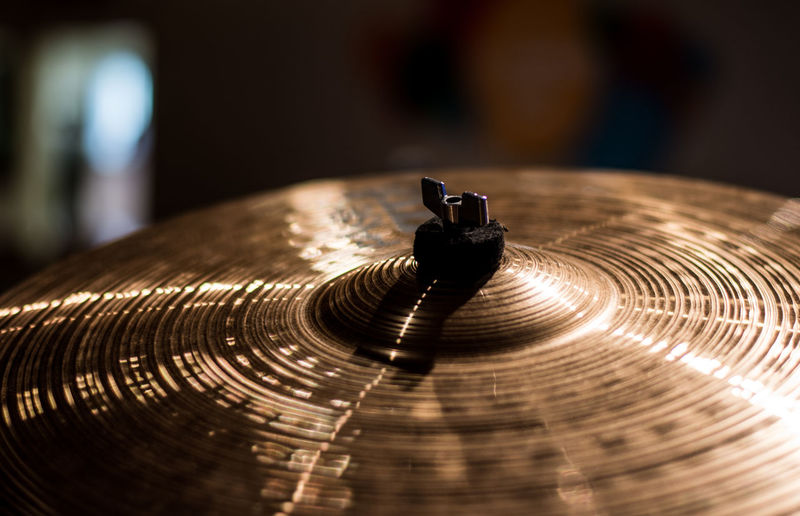 Close-Up Of Cymbal In Room