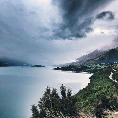 Remarkables Explore New Zealand Lake Wakatipu Sky Water Cloud - Sky Scenics - Nature Beauty In Nature Sea Tranquil Scene
