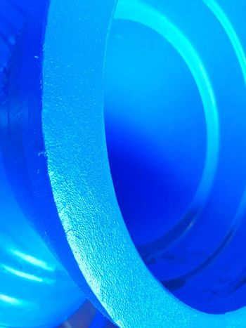 Utility Edge Blue Pipe Blue Close-up No People Abstract Indoors  Multi Colored Still Life Shape Full Frame Circle Curve