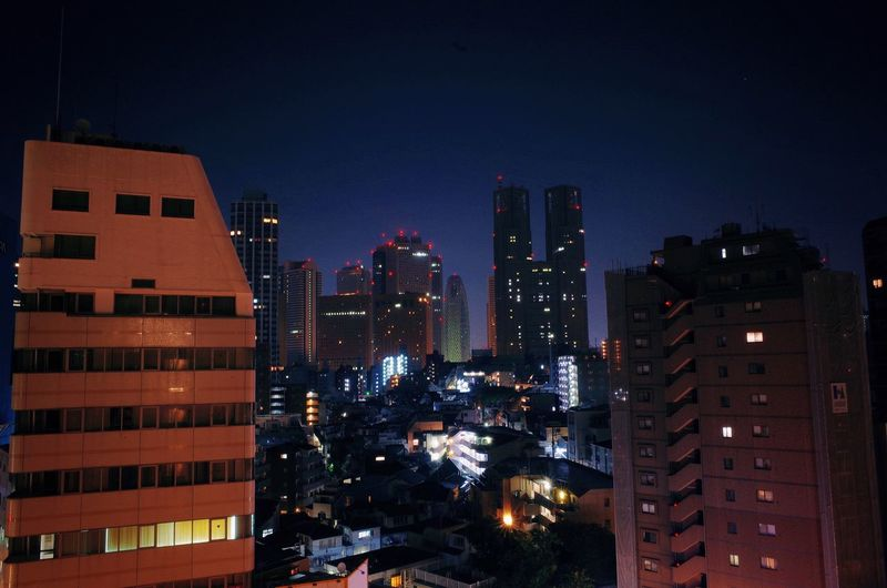 Tokyo Apartment Architecture Building Exterior Built Structure City City Life Cityscape Illuminated Landscape Modern Night No People Outdoors Sky Skyscraper Urban Skyline