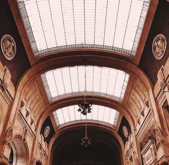 Italy Architecture_collection Architecture Indoors  Architecture Arch Ceiling Low Angle View Built Structure No People History Day