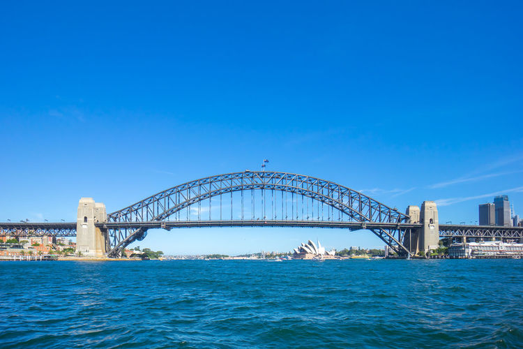 Sydney Harbour Bridge Against Blue Sky