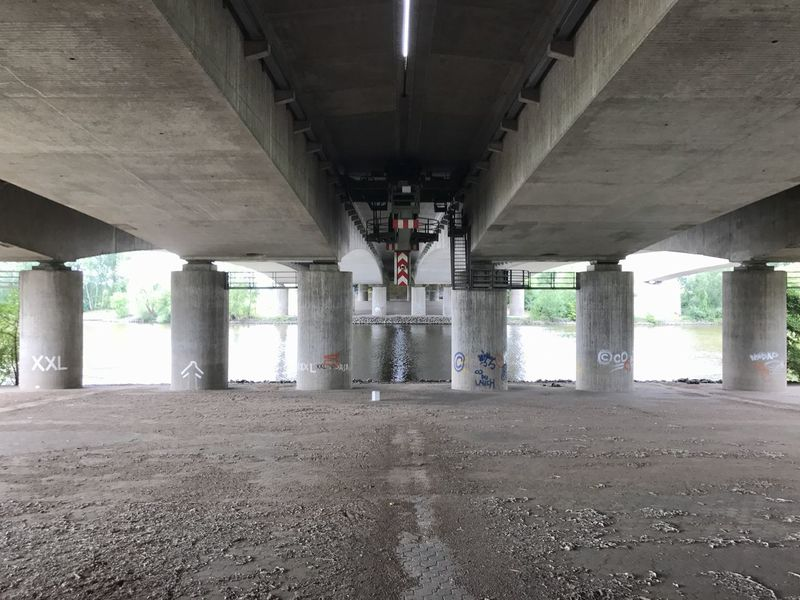 Bridge - Man Made Structure Architecture Below Underneath Connection Built Structure Architectural Column Transportation Day Under Indoors  No People