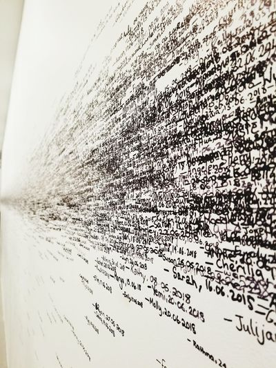 my name is on the wall! Visit Handwriting  Moma Australia Melbourne Museum Name Date Height Ink Technology