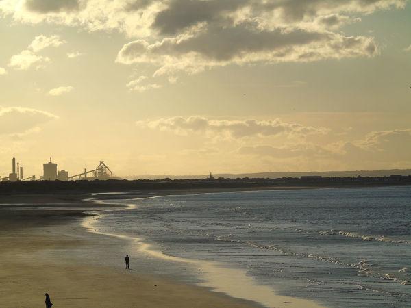 Beach Cloud - Sky Outdoors Sea Silhouette Sky Sunset Water Teesside Teesside Steel Redcar