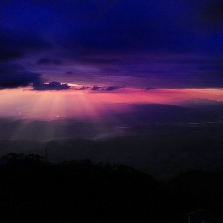 JaiMataDi Sun Rays Clouds Mountains About To  Rain Vaishno Devi Katra Jammu Colourfull Sky Horizon Ankitdogra