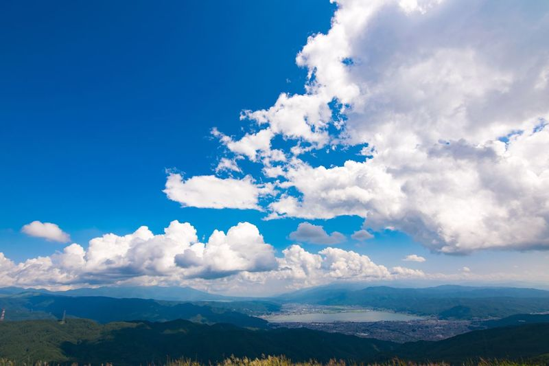 Vast sky Blue Sky Summer Cloud - Sky Sky Beauty In Nature Blue Mountain Nature Mountain Range Landscape