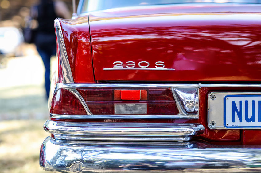 Classic car 230s Cars Classic Car Mercedes Mercedes-Benz Red Reflection Car Chrome Day No People Outdoors Red Retro Styled Tail Light Vehicle Vintage Car Vintage Cars