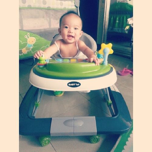 Spencer's new ride. Walker Baby1st Babygirl Happiness