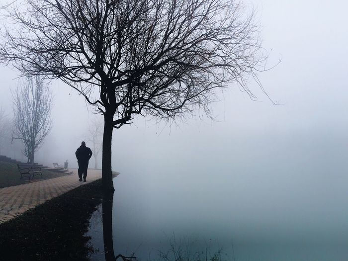 Mysterious lake. IPhone IPhoneography Iphoneonly Foggy Morning Lake IPS2016Composition IPS2016Winter Mysterious Fog Walking Around EyeEm Nature Lover