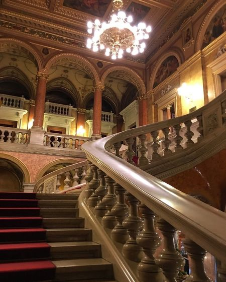 Architecture Illuminated Travel Destinations Built Structure Indoors  No People Day Operahouse Budapest