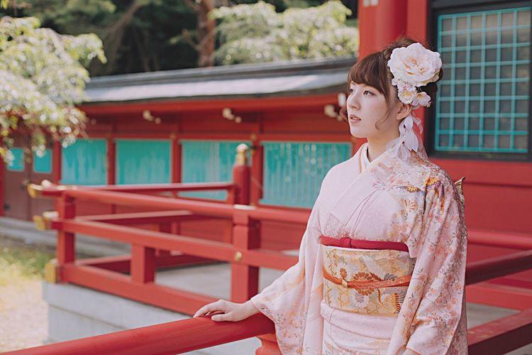 2016:0612 前撮り 20anniversary Photo Portrait Model Japan Kimono Sendai Red Antique Wabi-sabi Photography Only Women Love