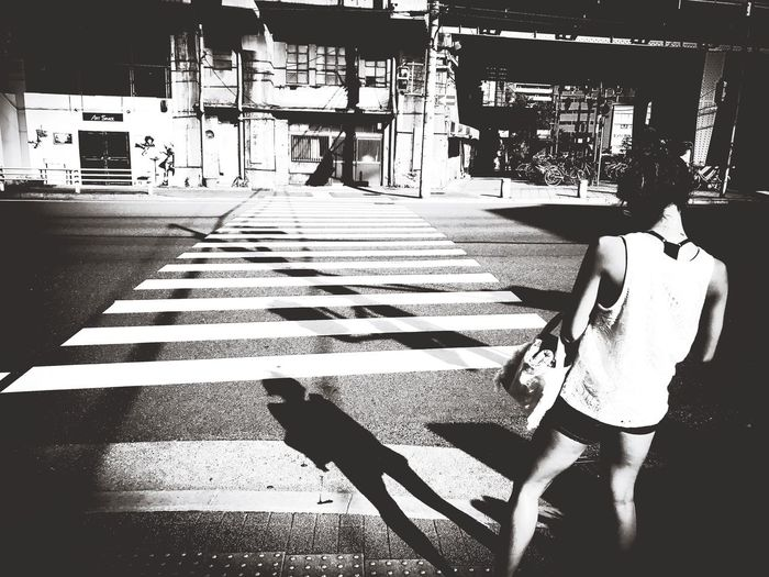 in the summer Blackandwhite Monochrome Street Portrait Streetphotography Street Life On The Road