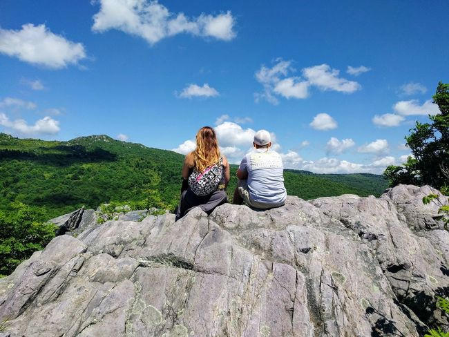 EyeEm Selects Two People Rear View Adult Togetherness Young Adult Cloud - Sky Vacations People Sky Sitting Outdoors Nature Tree Friendship Grayson Highlands National Park Be. Ready. Go Higher