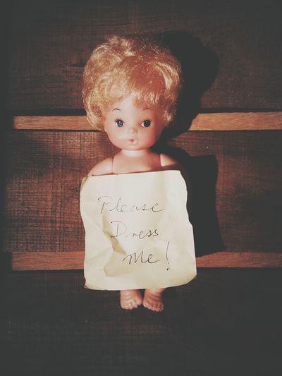 Doll Toy Postit Message