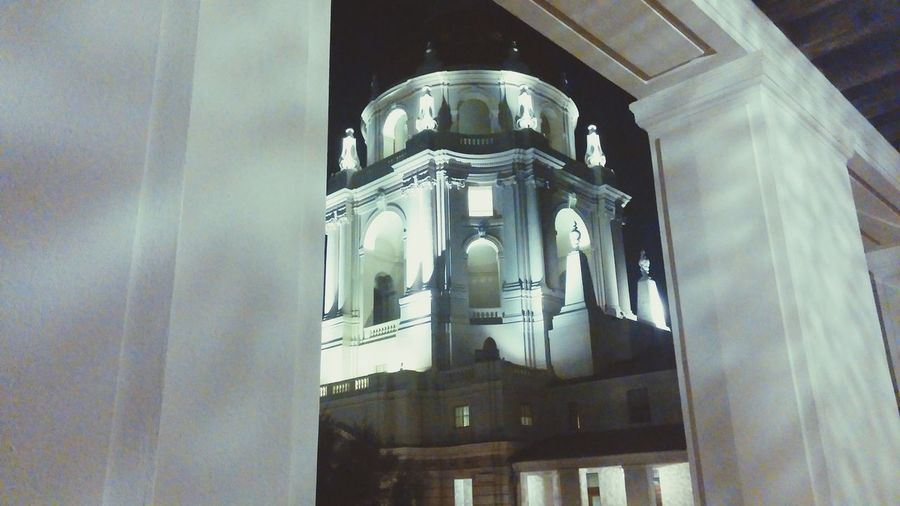 This was taken at Pasadena City Hall. The architecture there is amazing. Even more so at night. Miles Away