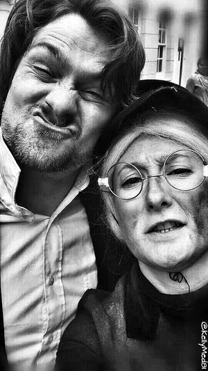 Street entertainers at the Sweeps Festival. The Portraitist - 2014 EyeEm Awards Hdr Edit Black And White Monochrome