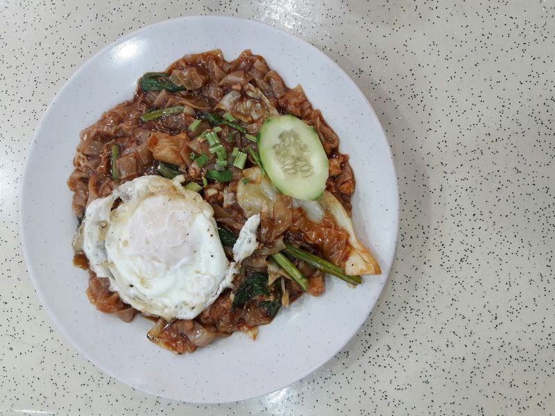 Food Freshness Plate Healthy Eating Ready-to-eat Close-up Food State Fried Kueh Tiaw Koey Teow Fried Egg Delicious Still Life