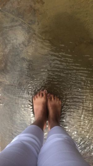Barefoot Close-up Day Human Foot Outdoors Personal Perspective Real People Standing Water