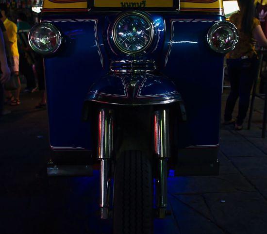 Tuk-tik, Khao San Road, Bangkok Bangkok Bangkok Thailand DSLR Photography Nightphotography Blue Dlsr Dslrphotography Khaosanroad Land Vehicle Metal Mode Of Transportation Night No People Pentax Pentax K-3 Pentax K5ll Tuk-tuk
