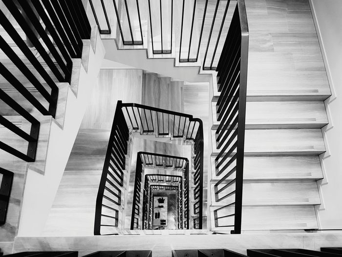 Week On Eyeem EyeEm Selects Architecture Bw_collection Black & White Blackandwhite Spiral Staircase Hand Rail Stairs Steps And Staircases Spiral Steps Spiral Stairs Staircase Railing In A Row Symmetry Pattern Architectural Detail Stairway