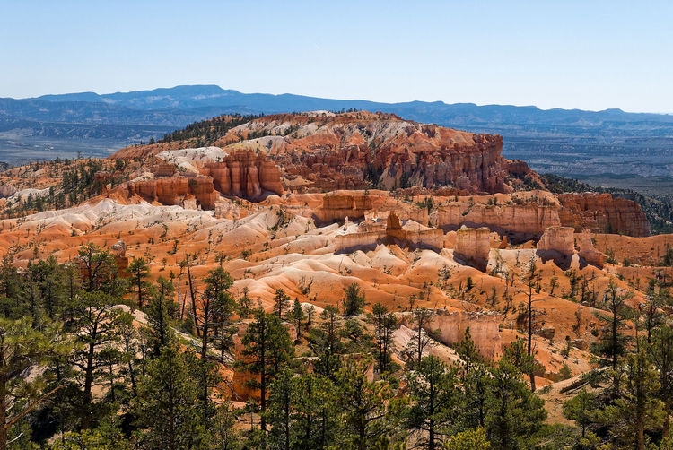 Scenic view of bryce canyon against clear sky