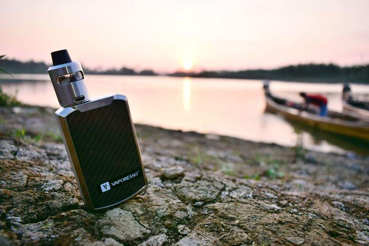 Vapor in sunset Vapor Vaporizer  Vaporwave Vaporfanatics Water Outdoors No People Sunset Nature Sky Day Close-up