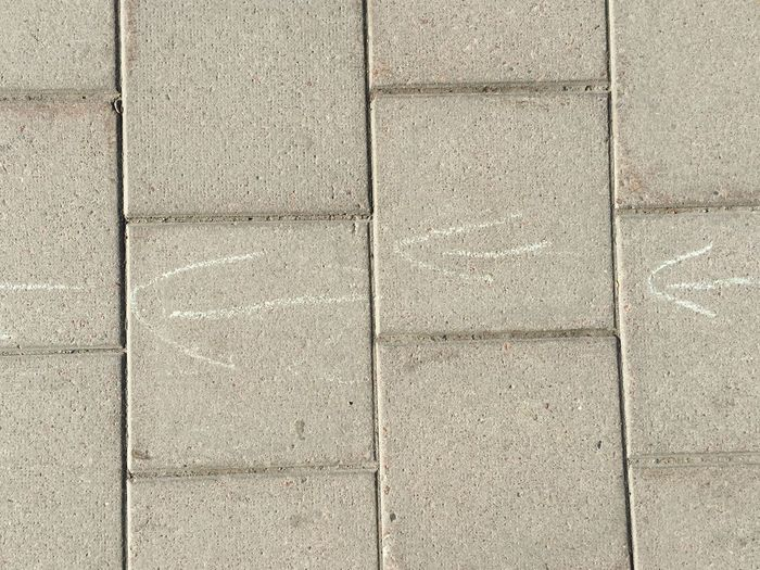 Stone Pavement No People Arrow Symbol Arrows Right To Left Direction Drawing Drawing On Pavement 3 Street Grey Day Square Moments