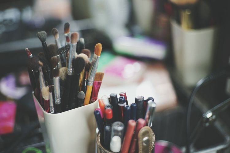 Close-Up Of Various Make-Up