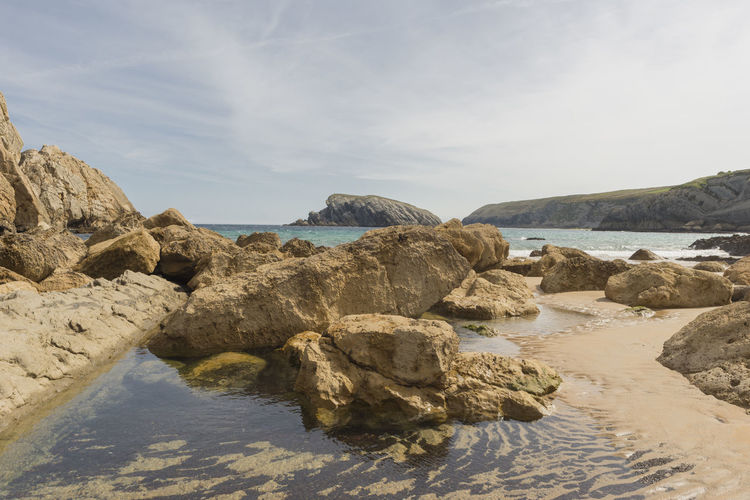 Arnia Arniabeach Beauty In Nature Blue Cantabria Coast Day Landscape Nature Nature No People Ocean Outdoors Rock - Object Scenics Sea Sky SPAIN Tranquil Scene Tranquility Water