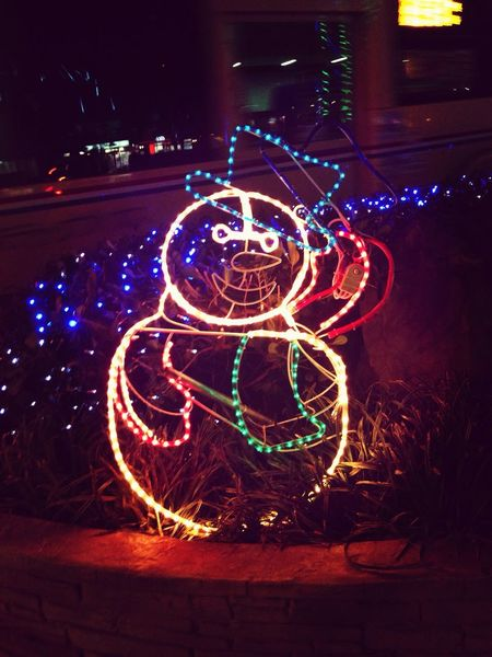 Night Lights Snowman