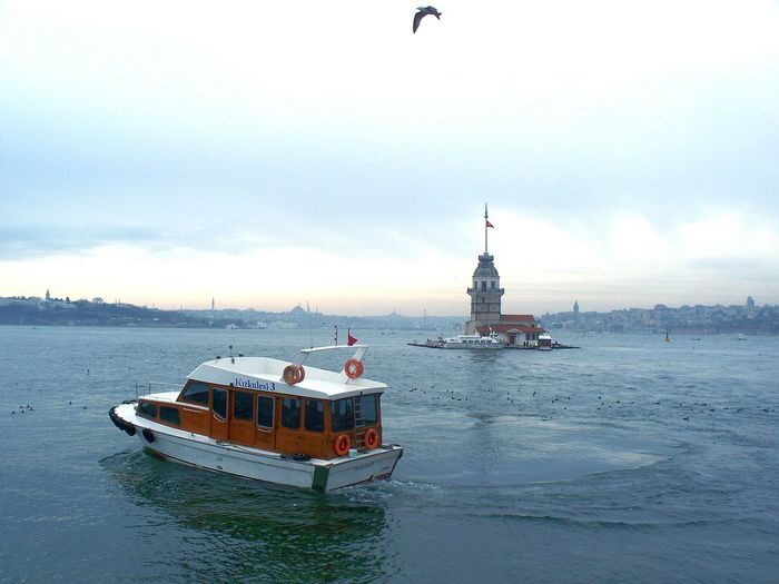 Nautical Vessel Sea Ship Water City Sailing Transportation Outdoors Sailing Ship Passenger Craft Sky Ferry No People Night , Istanbul Turkey