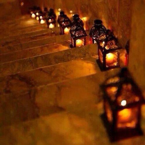 Beautiful night ♡ Stairs Candles Lanterns Saadiyat_island amazing abudhabi uae ♡