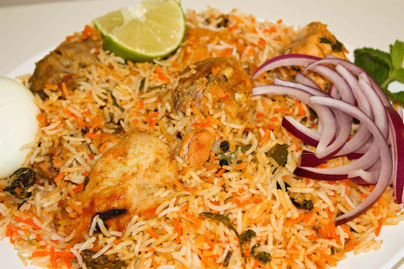 Hyderabad dum biryani super Special Food In India