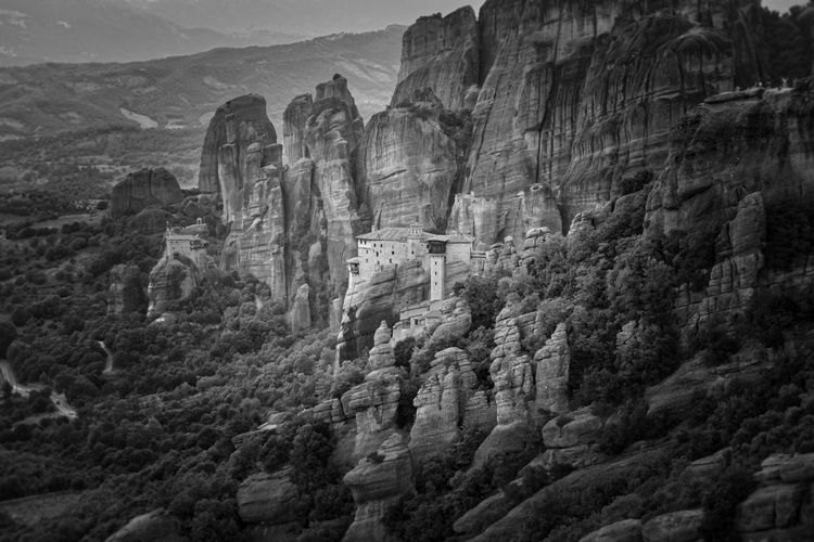 Black And White Friday Meteora Meteora Greece Kalampáka UNESCO World Heritage Site Archaeological Sites Monasteries Nature Landscape Landscapephotography Rocky Rockformation Outdoors Geology Travel Destinations No People