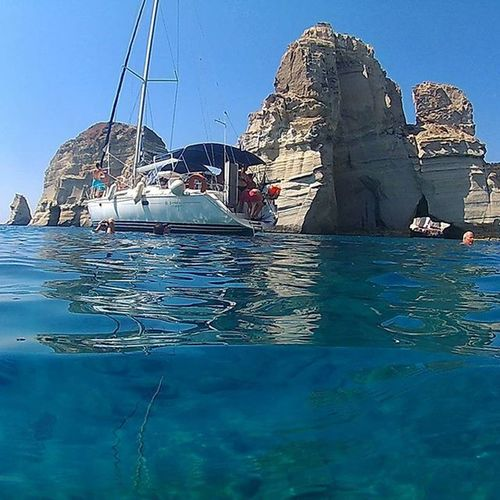 INFINITY SEA. Kleftiko, Milos. 3 pm. Sea Infinitysea Bestsea Milosisland Milos Ilovemilos Cyclades Cyclades_islands Pirates Cicladi Kleftiko Kleftikomilos Boattour Boat Instagood Instapic Greeklovers Greeklover_gr Greece Greecestagram Greesummer Greece2015 Summer Seaside Sub underwater