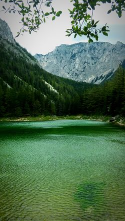 Mountain Scenics Tranquil Scene Lake Water Mountain Range Nature Beauty In Nature Tranquility Green Color Outdoors