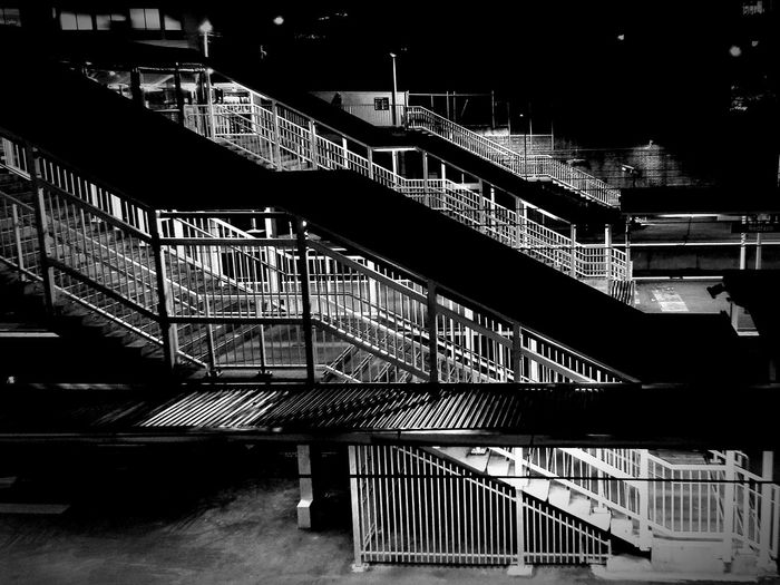 Redefern station in black and white at night by FeBird