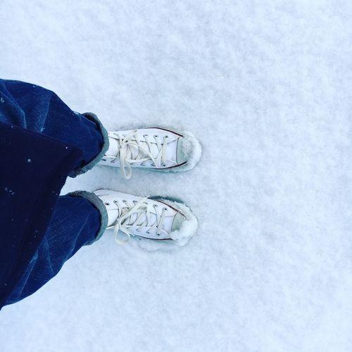 雪の散歩道 EyeEm Best Shots Iphonegraphy 足元クラブ あしもとフォト