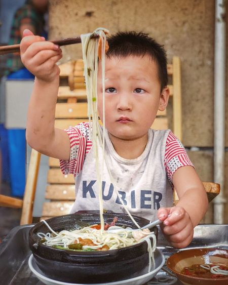 Childhood Child Food And Drink Males  One Person Food Front View