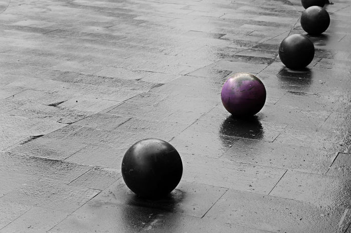 concrete purple ball Ball Black & White Close-up Color Concrete Day Detail Diferent Different Different Perspective Differential Focus Fruit No People Outdoor Purple Rainy Days Shadow Sidewalk Street Texture Wallpaper Water Break The Mold The Street Photographer - 2017 EyeEm Awards Visual Feast