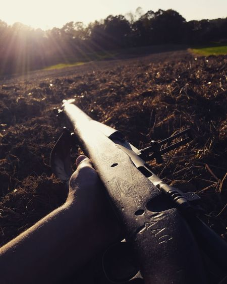 Fall Shooting Agriculture Outdoors No People Day Landscape Rural Scene Nature Outdoor Photography Sunlight History Guns Ww2 WWII Army Springfield Rifle