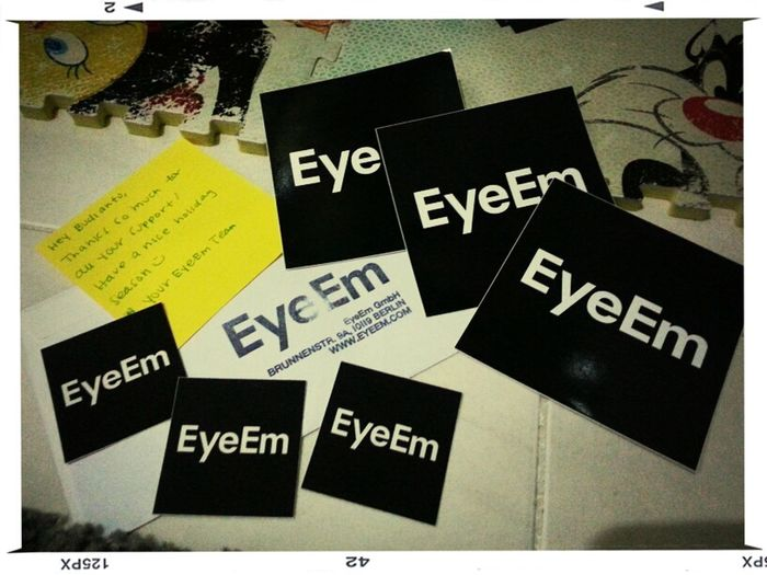 Thank you so much @EyeEm @team for the stickers! I've just received it this afternoon with @pl4vy_love @margaretmagdab. I'm so excited and truly feel happy, honored! Keep the great job! If I may suggest, please also make the application for BlackBerry :) Stickers EyeEm