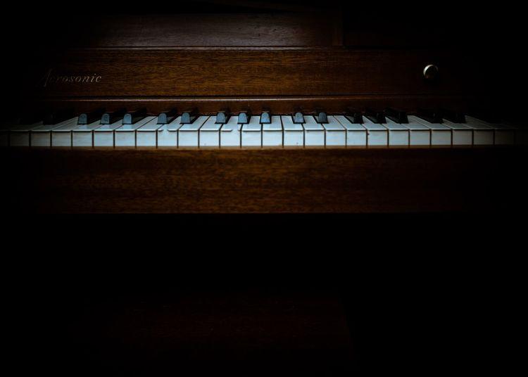 Piano Musical Equipment Night Music Musical Instrument Piano Key Keyboard