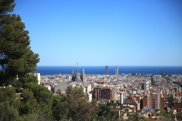 SPAIN Nice View Park Guell Barcelona Scenery Scenery Shots Cannon 5dMarkⅡ 24-70mm F2.8 Photography Photo Picture Travel
