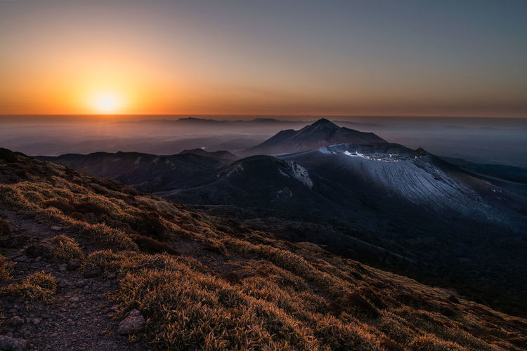 Japan Nightphotography Kirishima Lamdscape Milky Way Mountain Star Sunrise