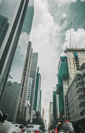 Blue Building City Cityscape Makati City Aqua Aque Buildings Blue Blue Sky Buildings Busy Street Makati Urban Urban Landscape