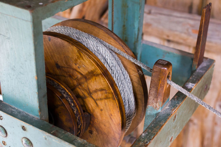 Making ropes the old way. Close-up Craftsmanship  Handmade Making Rope No People Old Part Of Rope Ropemaker Run-down Selective Focus Technology Wheel Wood - Material