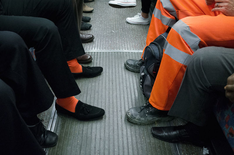 Day High Angle View Indoors  Low Section Men Orange Color People Real People Sitting Streetphotography EyeEm LOST IN London